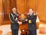 Dalbir Singh interacts with Deputy Chief of General Staff of Vietnam People's Army