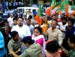 BJP workers-police clash in Kolkata, several injured