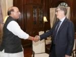Bill Gates calls on Rajnath Singh