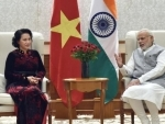 President of the National Assembly of Vietnam meets PM Modi