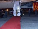 Narendra Modi reaches India