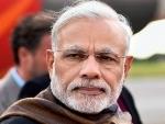 Narendra Modi begins his address