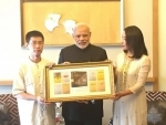 Narendra Modi meets Indophile Professor Wang