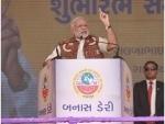 PM inaugurates cheese plant, addresses farmers in Banaskantha district of Gujarat