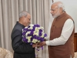 Narendra Modi meets Pranab Mukherjee, wishes him on birthday