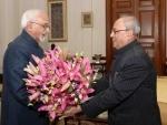 Vice President meets Pranab Mukherjee