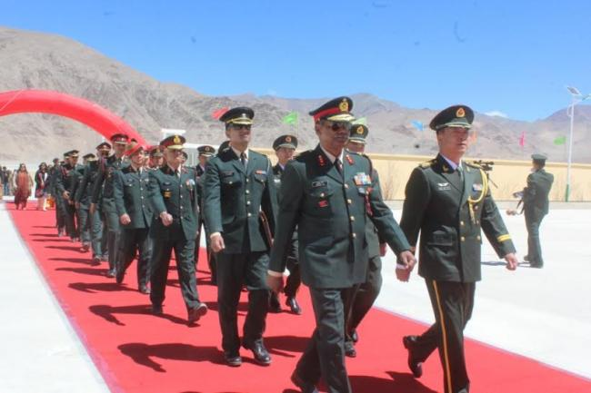 India-China Border: Personnel meet on the occasion of Labour Day