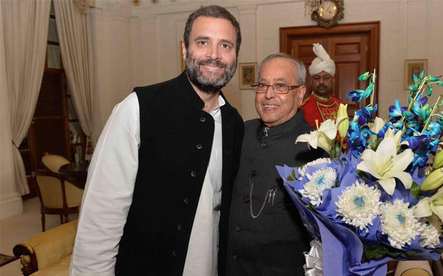Rahul Gandhi,Sonia Gandhi wish President Pranab Mukherjee on birthday