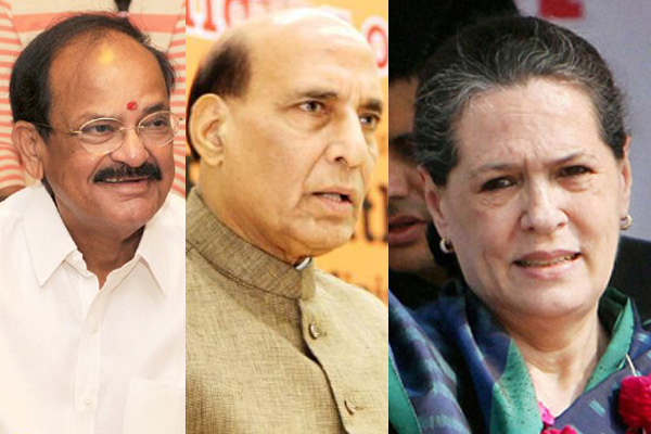 Rajnath Singh and Venkiah Naidu to meet Sonia Gandhi to discuss the name of Presidential candidate