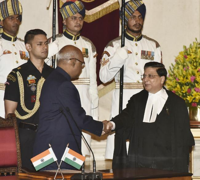 Dipak Misra sworn in as new Chief Justice of India