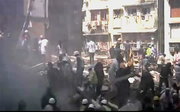 Mumbai Building Collapse:  ten killed, several injured, many feared trapped