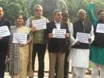 H-1B visa row: TMC MPs demonstrate outside Parliament
