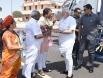 PM Modi arrives in Gujarat on a two-day visit