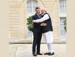 PM Modi meets French President Emmanuel Macron
