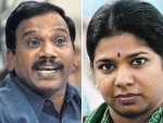 DMK supporters give hero's welcome to M Kanimozhi and A Raja in Chennai after being acquitted in the 2G scam case