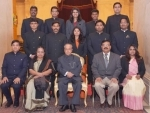 Probationers of Indian defence accounts service call on President