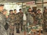 Uzbek army's delegation team visits Counter Insurgency and Jungle Warfare School, Mizoram
