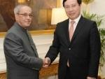 Deputy Prime Minister and Foreign Minister of Vietnam calls on President Mukherjee