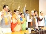 Amit Shah, Smriti Irani, Balwantsinh Rajput file nominations for Rajya Sabha poll in Gujarat