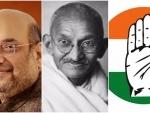 Congress demands Amit Shah apology for alleged derogatory remark on Mahatma Gandhi