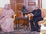 Prime Minister of Bangladesh calls on President Pranab Mukherjee