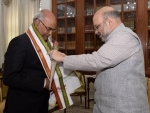 BJP chief Amit Shah meets President of India Ram Nath Kovind