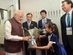 Narendra Modi arrives in China