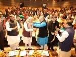 BJP rules more states than Indira Gandhi did, says emotional Modi at BJP meet