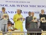 Pranab Mukherjee receives books 'Jnan, a-Janan and Bijnan: Popper-er Jnantatta', 'Samudra Banijjer Prekshite Sthala Banijjya, Bharat Mahasagar Anchal, 1500-1800'