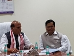 Assam CM discusses gamut of security, important issues with Rajnath Singh
