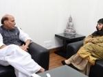 Jammu and Kashmir Chief Minister meets Rajnath Singh