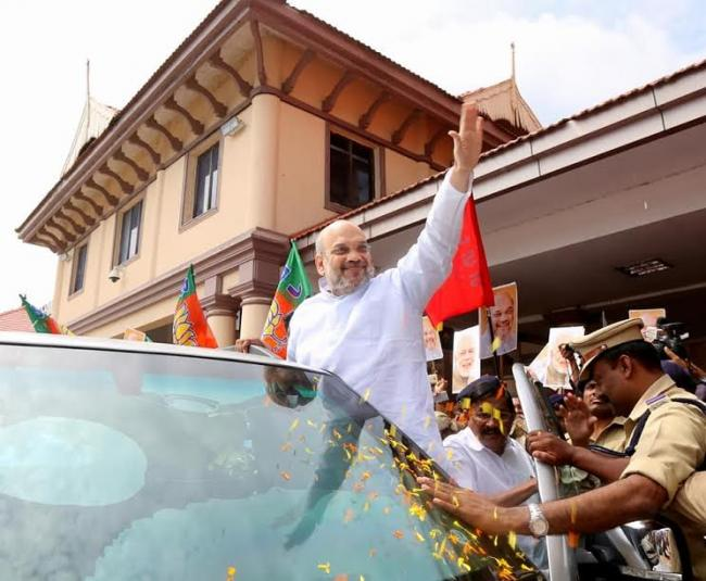 BJP President Amit Shah begins his three day visit to Kerala amidst beef controversy