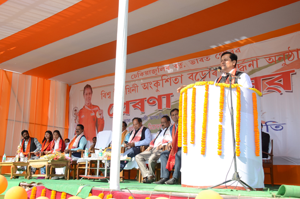 Sonowal calls upon youth to take up sports as a way of life