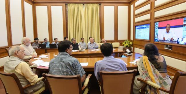 PM Modi interacts through PRAGATI