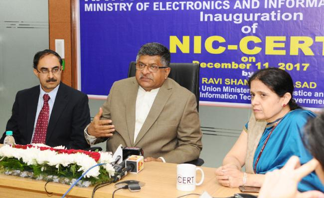 Ravi Shankar Prasad launches first NIC CERT to prevent and predict cyber attacks on government utilities