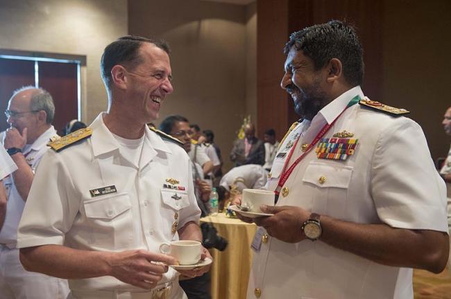 Commander of the Sri Lankan Navy visiting India