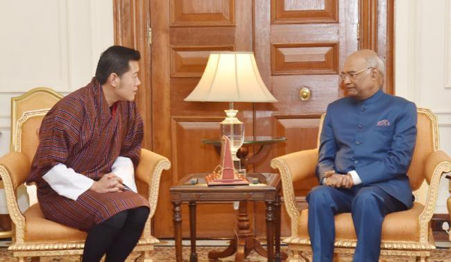 King of Bhutan calls on the President Ram Nath Kovind on Wednesday