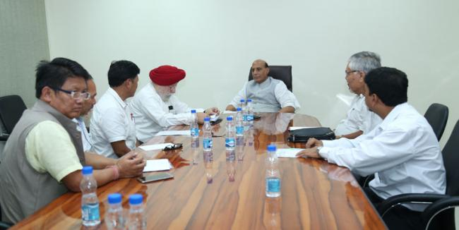Gorkhaland Movement leaders calls on Union Home Minister Rajnath Singh