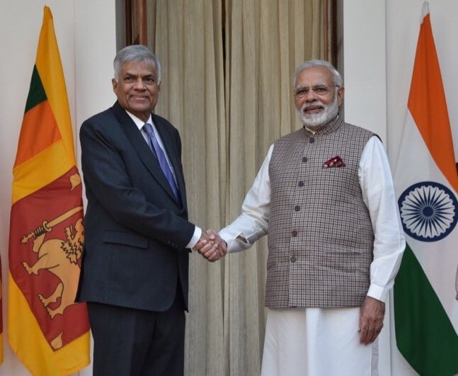 Prime ministers of India and Sri Lanka meet to discuss bilateral ties