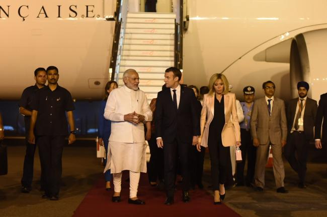 On India visit, France's President Macron stresses defence ties, environment