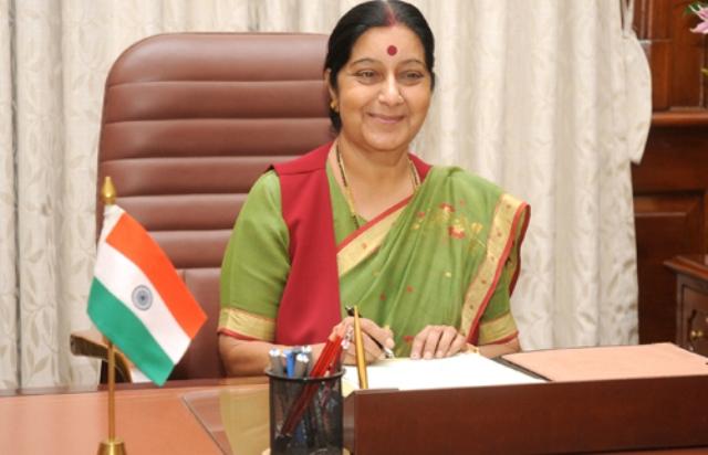 Sushma Swaraj leaves for Myanmar on two-day visit