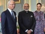 Narendra Modi meets Sweden King Carl XVI Gustaf in Stockholm