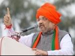 Amit Shah reaches Madhya Pradesh