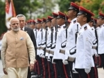 PM Modi receives ceremonial welcome at Istana in Singapore