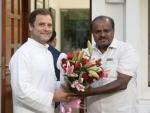 Rahul Gandhi to attend Kumaraswamy's swearing-in ceremony in Bengaluru tomorrow