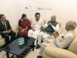 President Kovind visits Chennai, meets ailing Karunanidhi