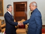 Foreign Minister Wang Yi of China calls on the President Kovind