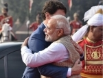 Narendra Modi welcomes Justin Trudeau with bear hug