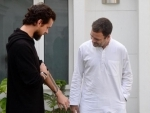 Twitter co-founder and CEO Jack Dorsey meets Rahul Gandhi
