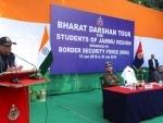 Jammu school children call on Union Home Minister Rajnath Singh
